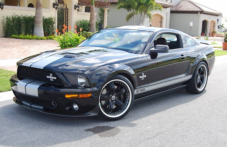 Black 2007 Ford Mustang Shelby Gt 500 40th Anniversary