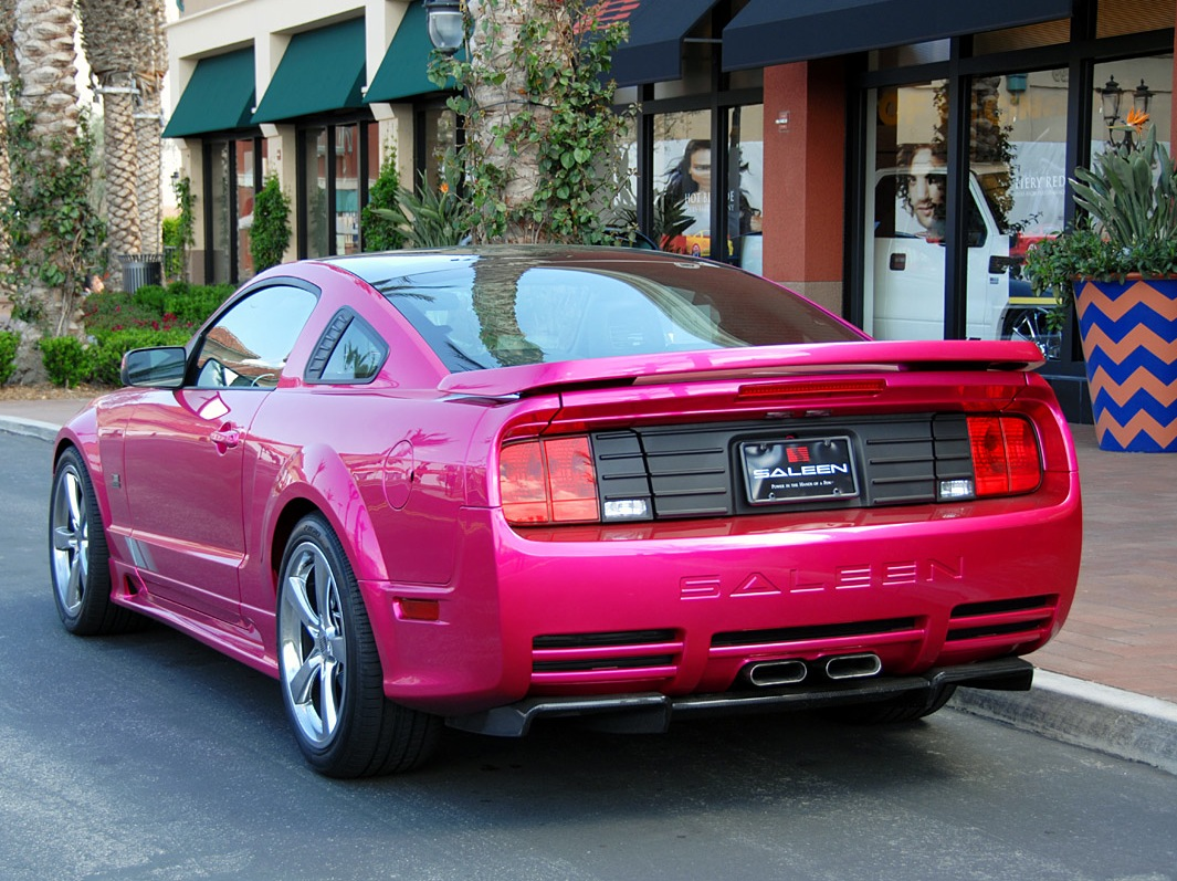 Molly pop pink 2007 saleen s281 e ford mustang coupe