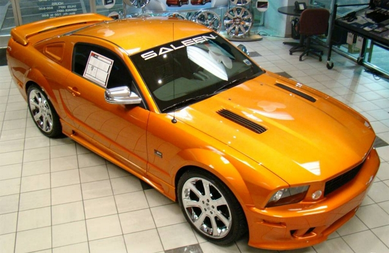 Beryllium Orange 2007 Saleen S281 Mustang Coupe