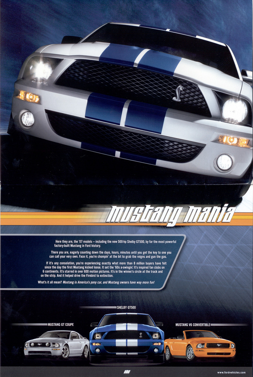 Page 2 & 3 : Mustang Models