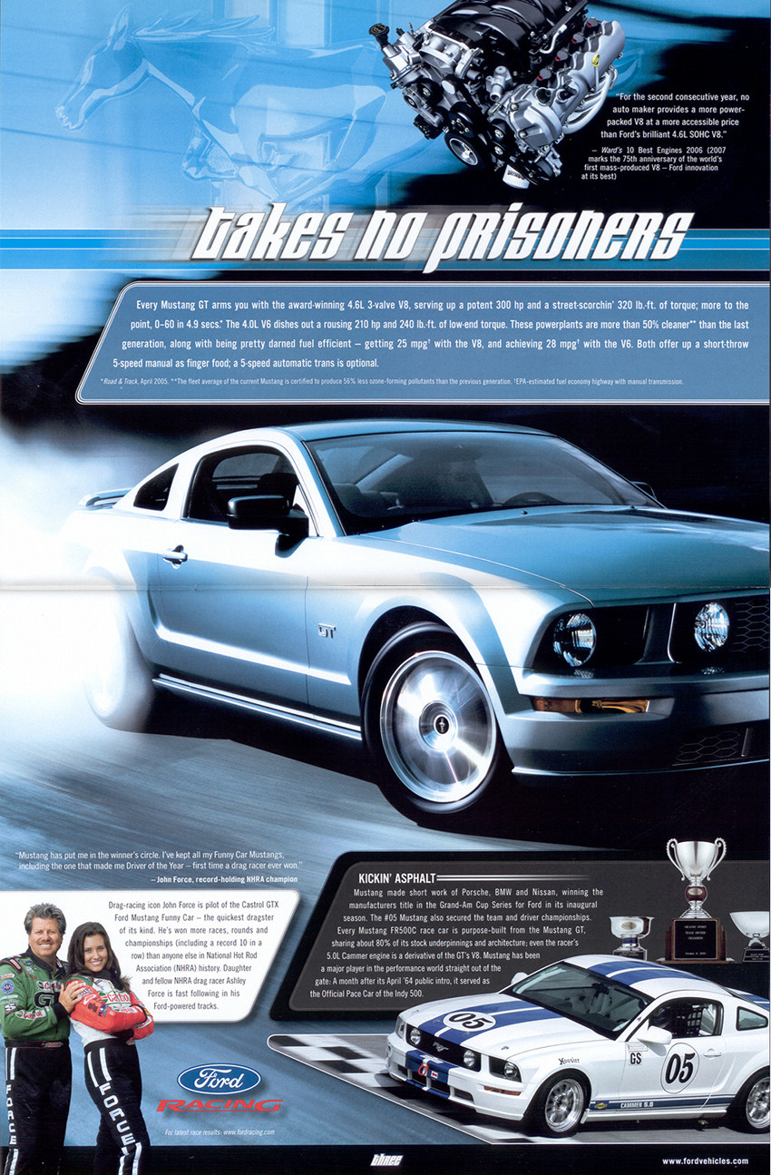 Page 6 and 7 : Ford Racing and the Mustang GT