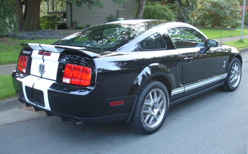 2008 Black Shelby GT500 Mustang Coupe