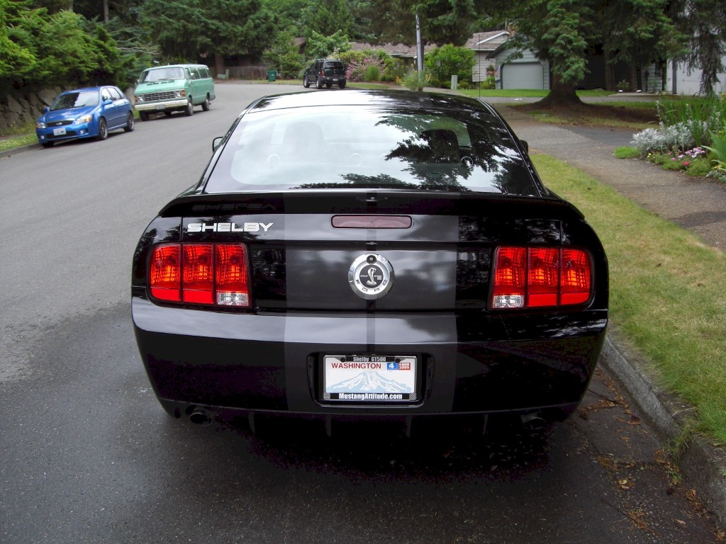 Black 2008 Shelby GT 500 Coupe