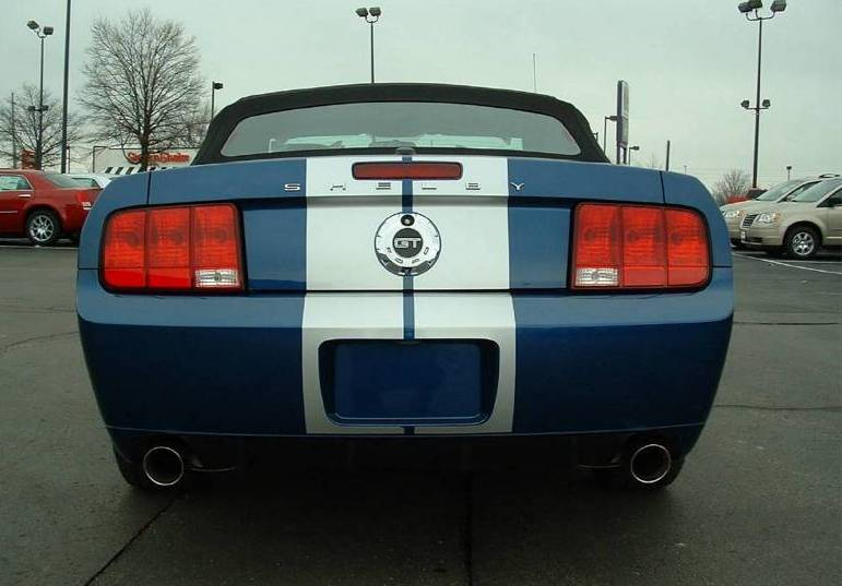Vista Blue 2008 Ford Mustang Shelby Gt Convertible Mustangattitude