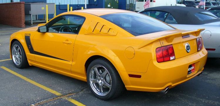 Grabber Orange 2008 Roush Mustang