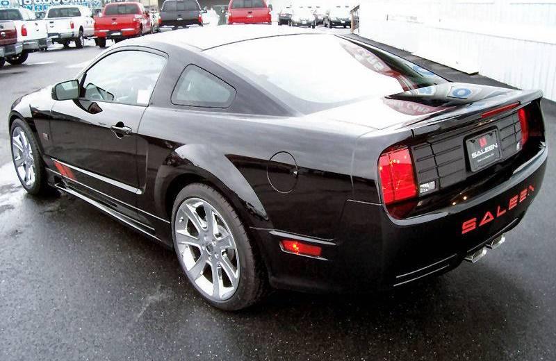 black 2008 saleen red flag ford mustang coupe photo detail. Black Bedroom Furniture Sets. Home Design Ideas