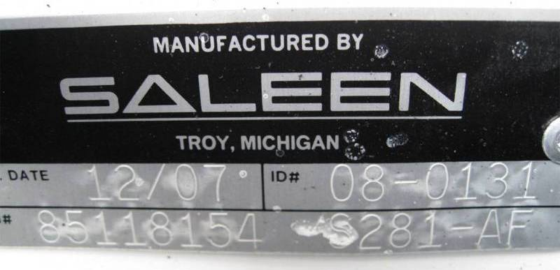 Saleen Engine Badge