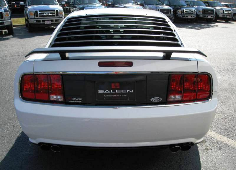 performance white 2008 saleen h302 ford mustang coupe