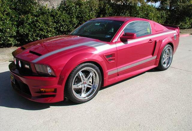 Dark Candy Apple Red 2008 Mustang AJ Foyt Coyote Edition Coupe