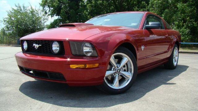 Dark Candy Apple Red 2009 Mustang GT Coupe