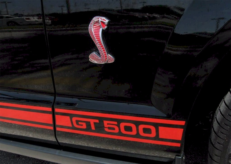 2009 Shelby GT-500 Red Stripe Options