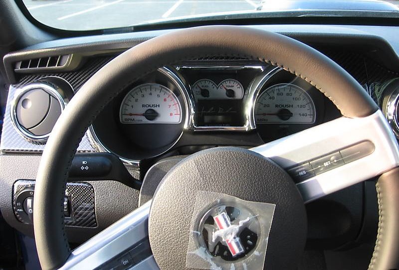 Roush White Face Electro Luminescent Gauge Cluster