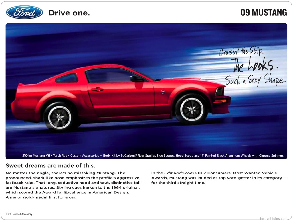 Ford 2009 Mustang Promotional Brochure