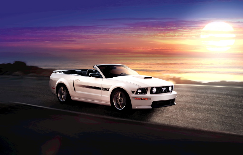 Performance White 09 Mustang GTCS Convertible