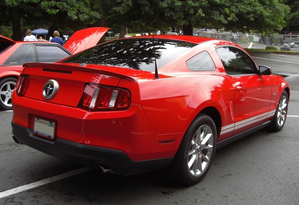 Torch Red '09 Custom Mustang V6 Coupe