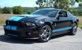 Black 2010 Mustang Shelby GT500 Coupe with Grabber Blue Stripes