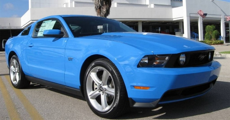 Grabber Blue 2010 Mustang Gt Coupe