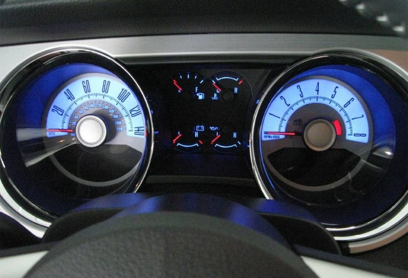 Grabber Blue 2010 Mustang Gt Coupe Here Is One Of The Mycolor Options Should Not Be Confused With Ambient Lighting Standard Option Which