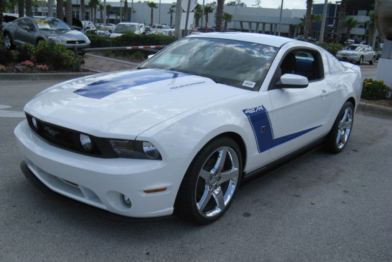 Performance White 2010 Mustang Roush 427R Coupe