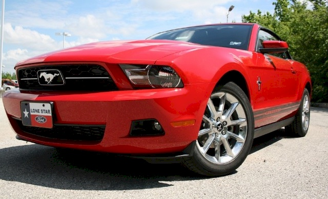 Torch Red 2010 Mustang Convertible