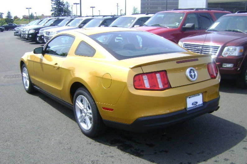 Sunset Gold 2010 Mustang V6 Coupe