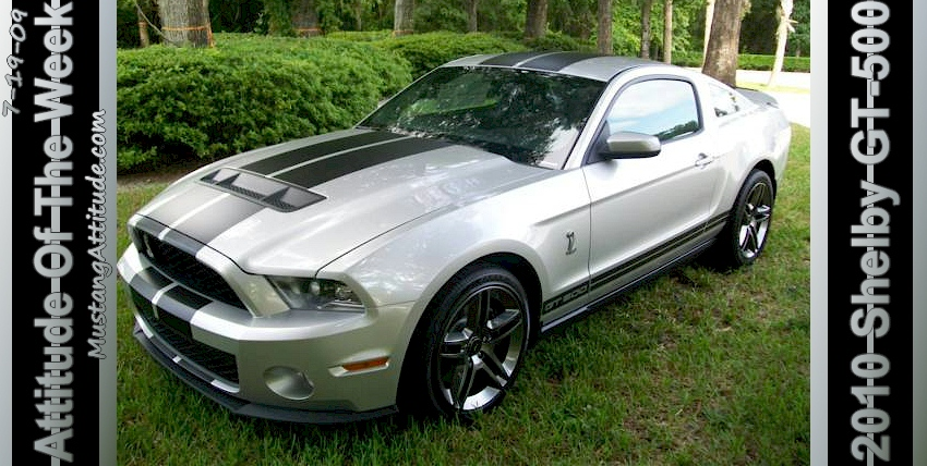 Brilliant Silver 2010 Shelby GT-500