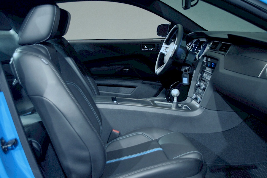 Black Leather Interior 2010 Mustang GT