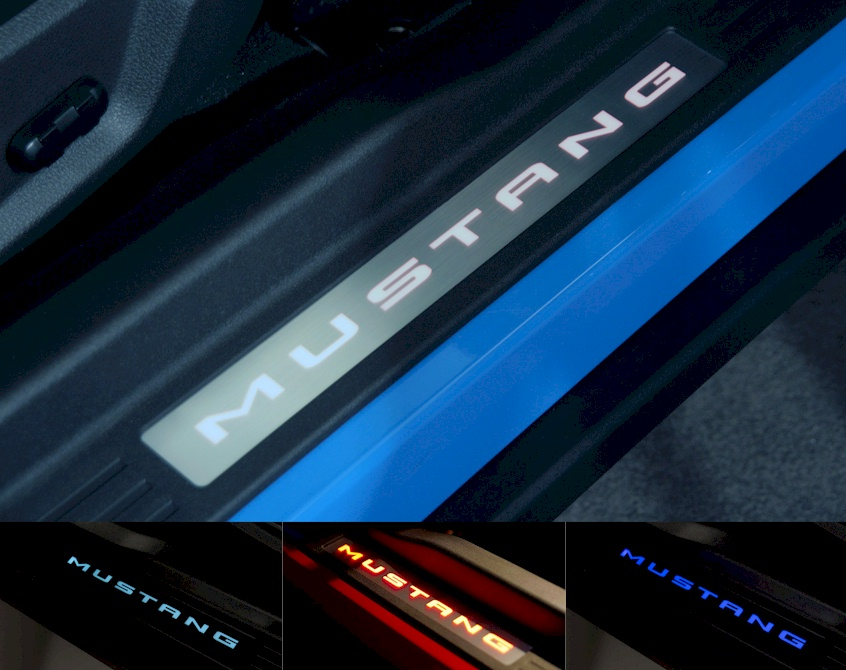 Ambient Lighting Door Sill Plates 2010 Mustang