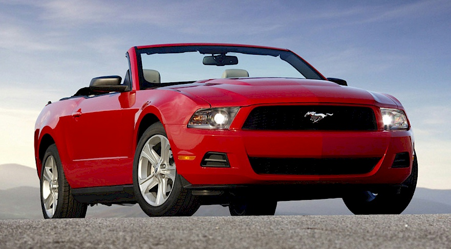 Torch Red 2010 Mustang V6 Convertible