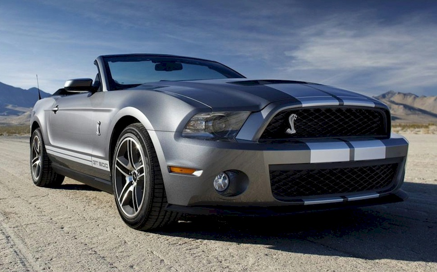 Sterling Gray 2010 Shelby GT-500 Convertible