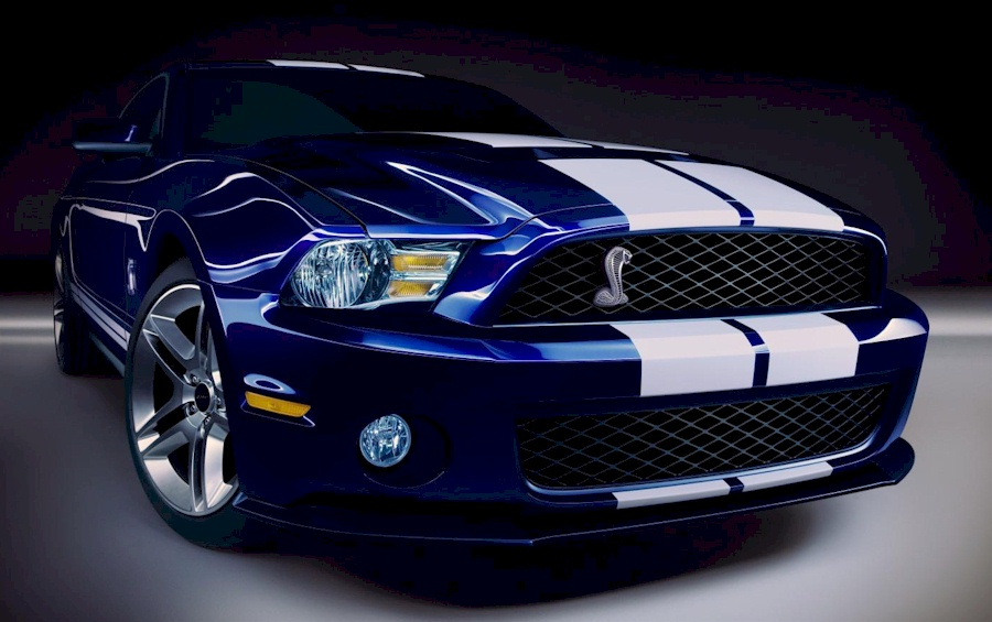 Kona Blue 2010 Shelby GT-500