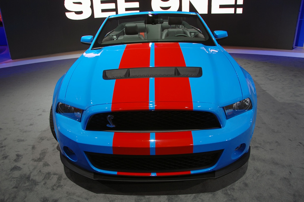 Grabber Blue 2010 Ford Mustang Shelby Gt 500 Convertible