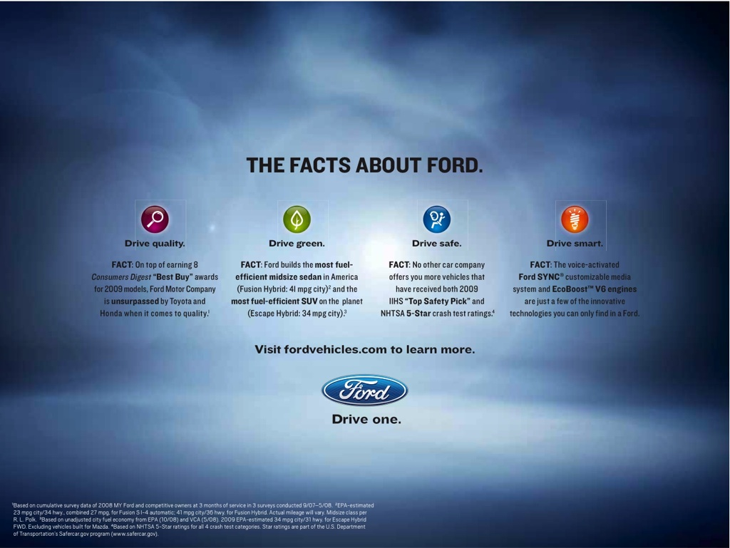 ford motor company customer oriented promotional mix