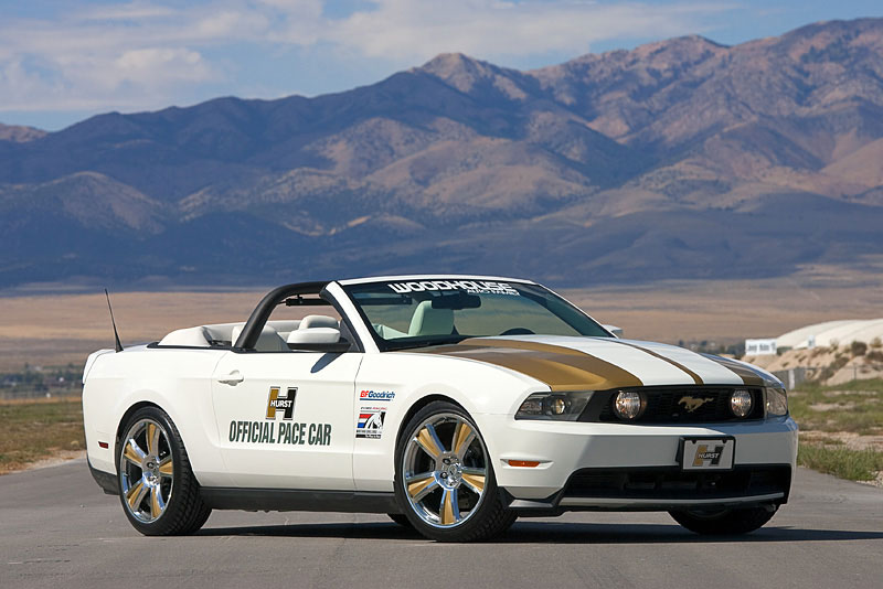 performance white 2010 ford mustang gt hurst pace car convertible photo detail. Black Bedroom Furniture Sets. Home Design Ideas