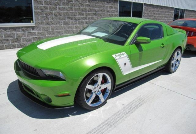 Sassy Grass Green 2010 Mustang Roush Barrett Jackson Coupe