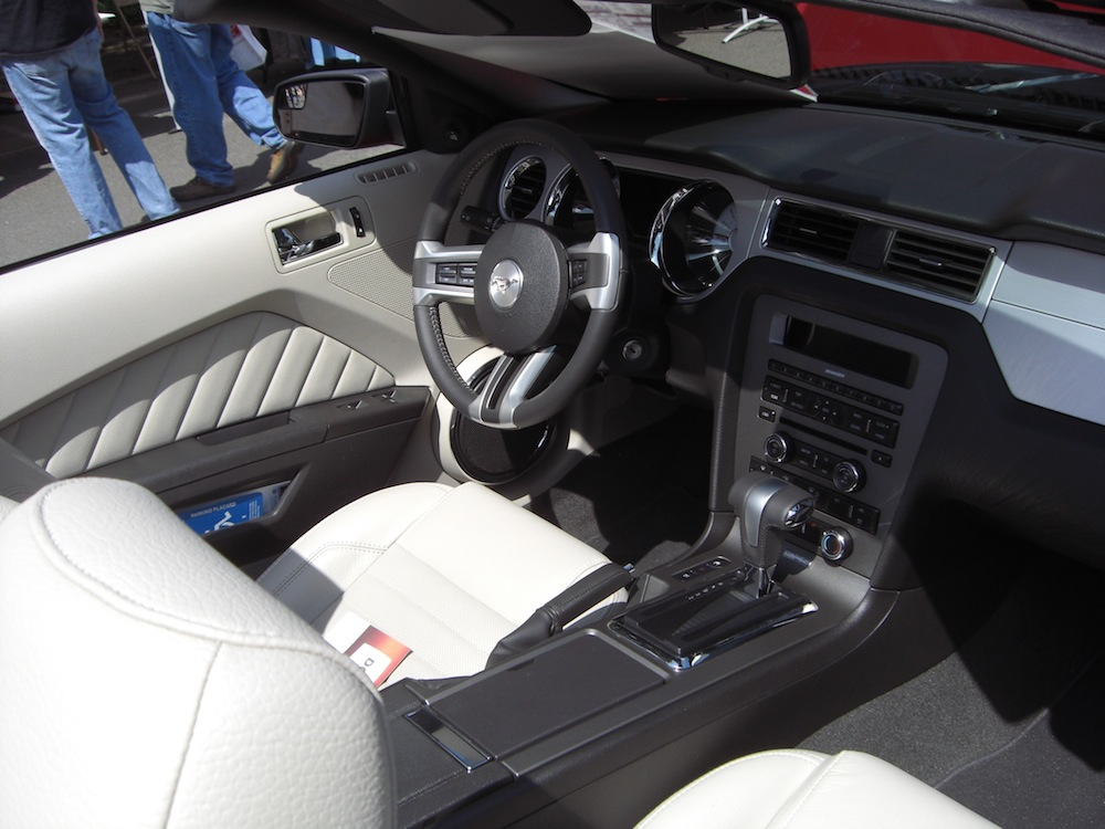 Stone White Interior 2011 Mustang MCA Special Convertible