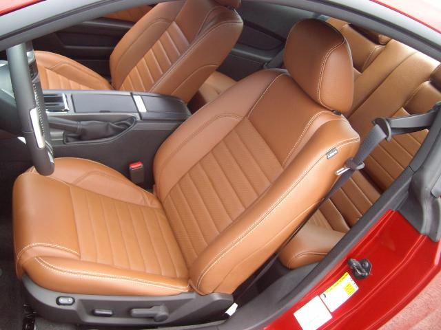 Optional Saddle Leather Interior 2011 Mustang GT Coupe
