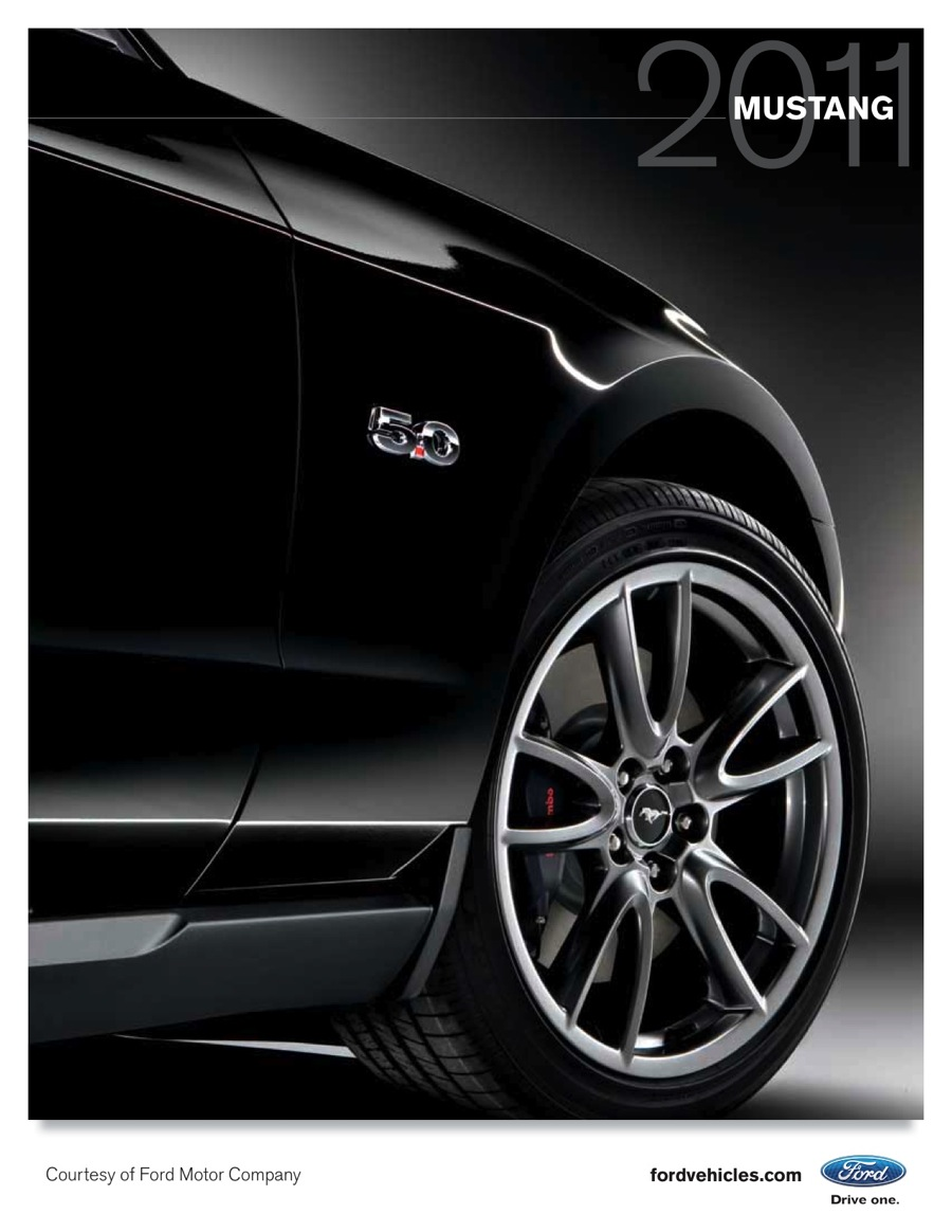2011 Ford Mustang Promotional Booklet