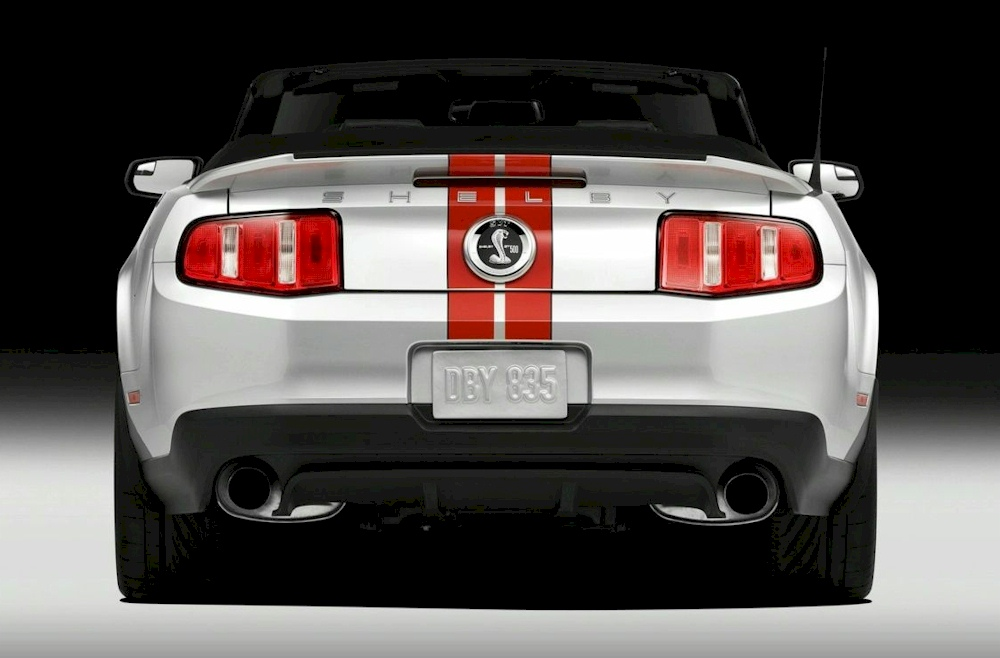 Ingot Silver 2011 Ford Mustang Shelby Gt 500 Convertible