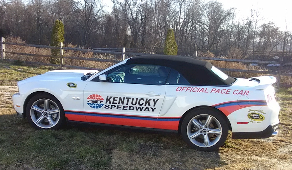 Performance White 2012 Mustang GT Kentucky Speedway Pace Car