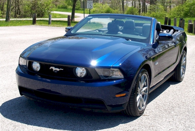 Kona Blue 2012 Ford Mustang Gt Convertible