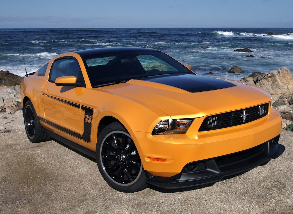 yellow blaze 2012 boss 302 ford mustang coupe photo detail. Black Bedroom Furniture Sets. Home Design Ideas