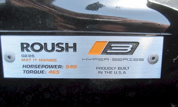 Roush Hyper Series ID Plate