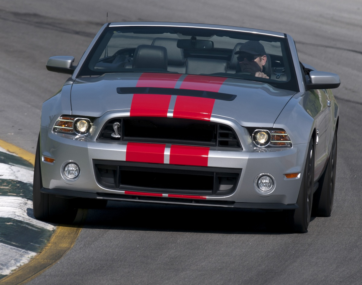 Ingot Silver 2013 Shelby GT500 Mustang Convertible