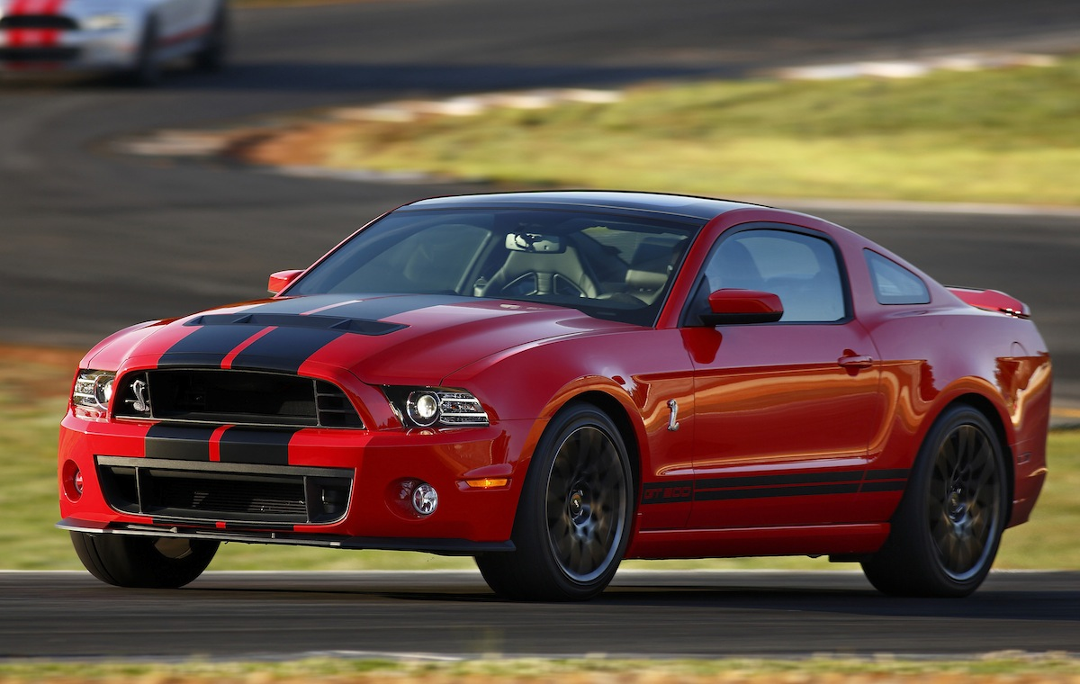 Race Red 2013 Shelby GT500 coupe
