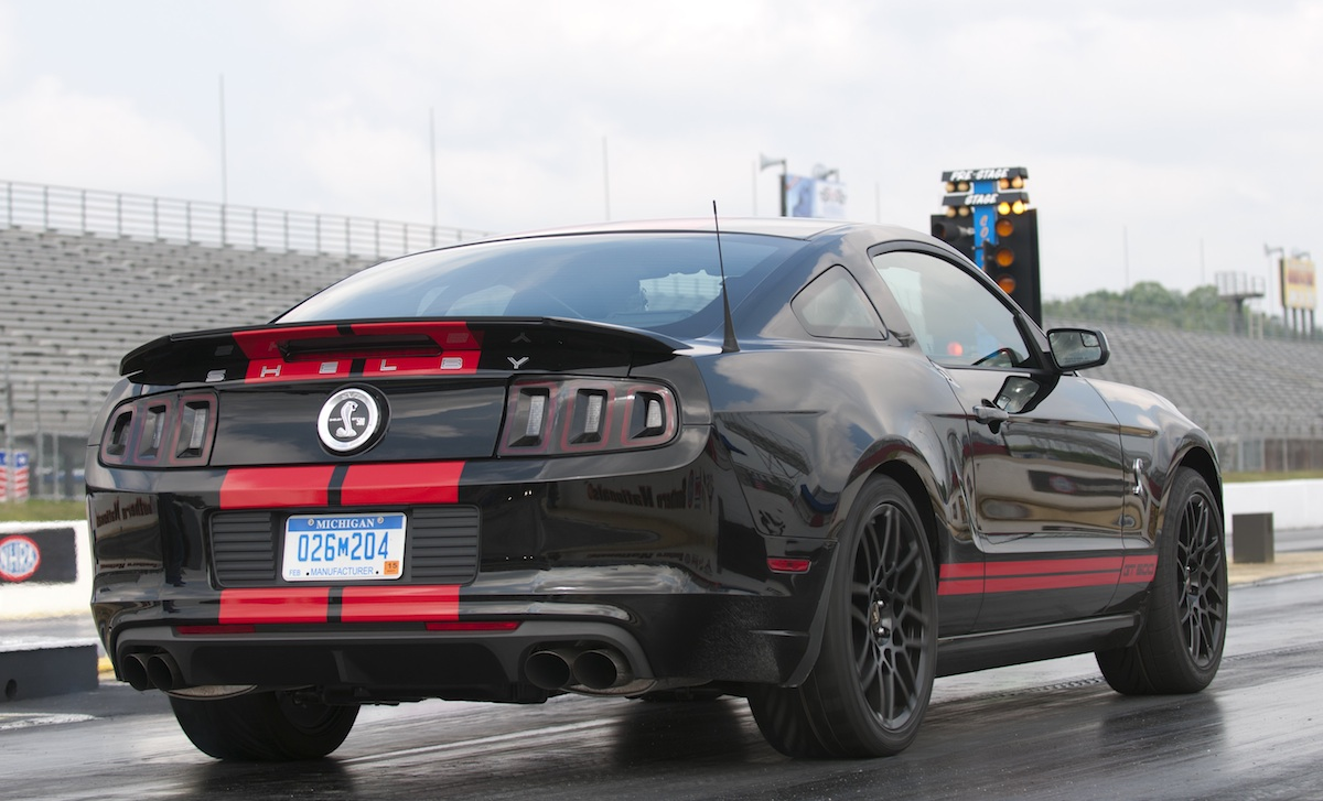 Black with Red Stripes 2013 GT500 Mustang