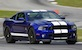 Deep Impact Blue 2013 GT500 Mustang coupe
