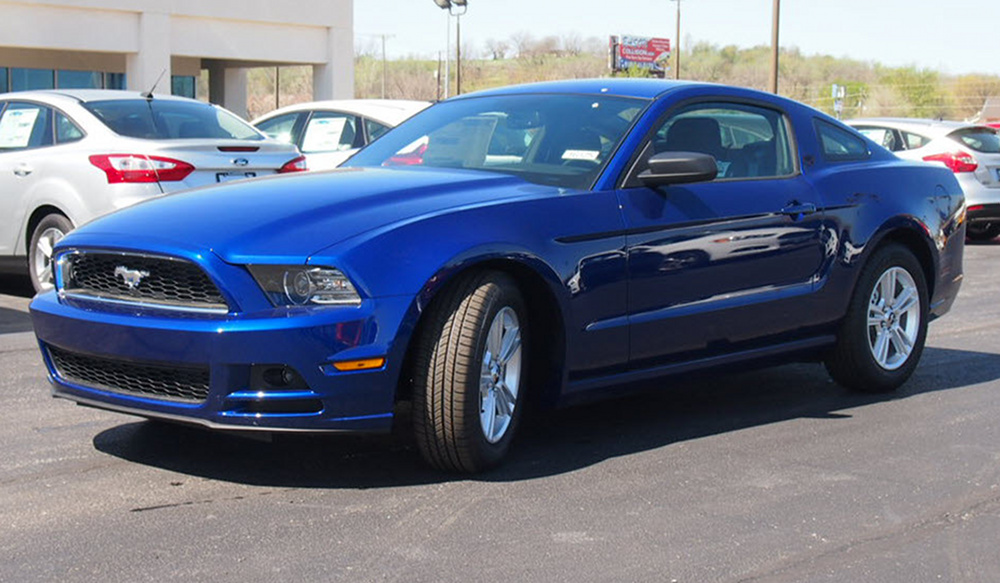 deep impact blue 2014 ford mustang coupe photo detail. Black Bedroom Furniture Sets. Home Design Ideas