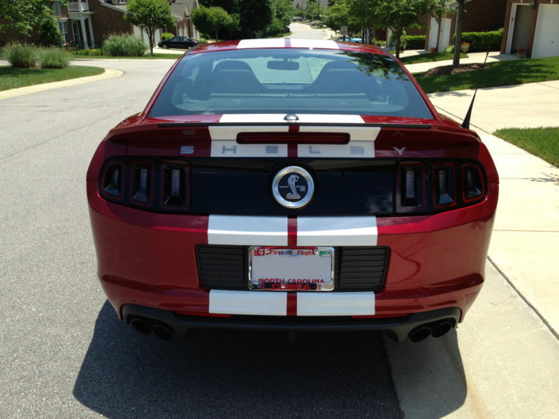 2014 Ruby Red Mustang Shelby  GT500 coupe