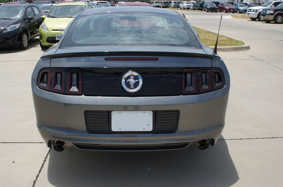 Sterling Gray 2014 Mustang V6 Rear View